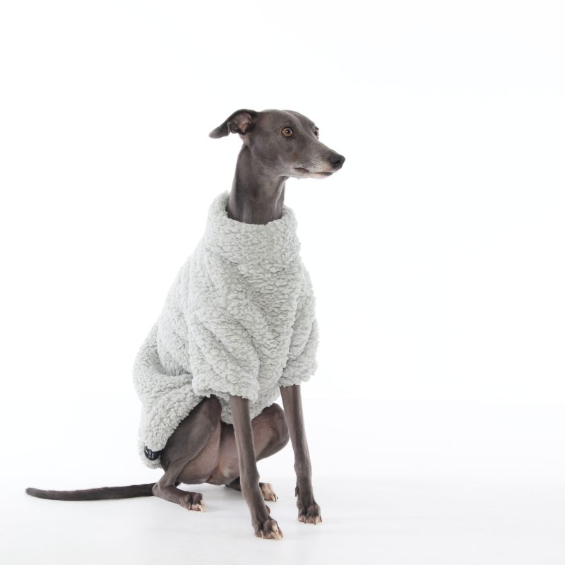 The Trendy Whippet Grey Fluffy Fleece Whippet Jumper