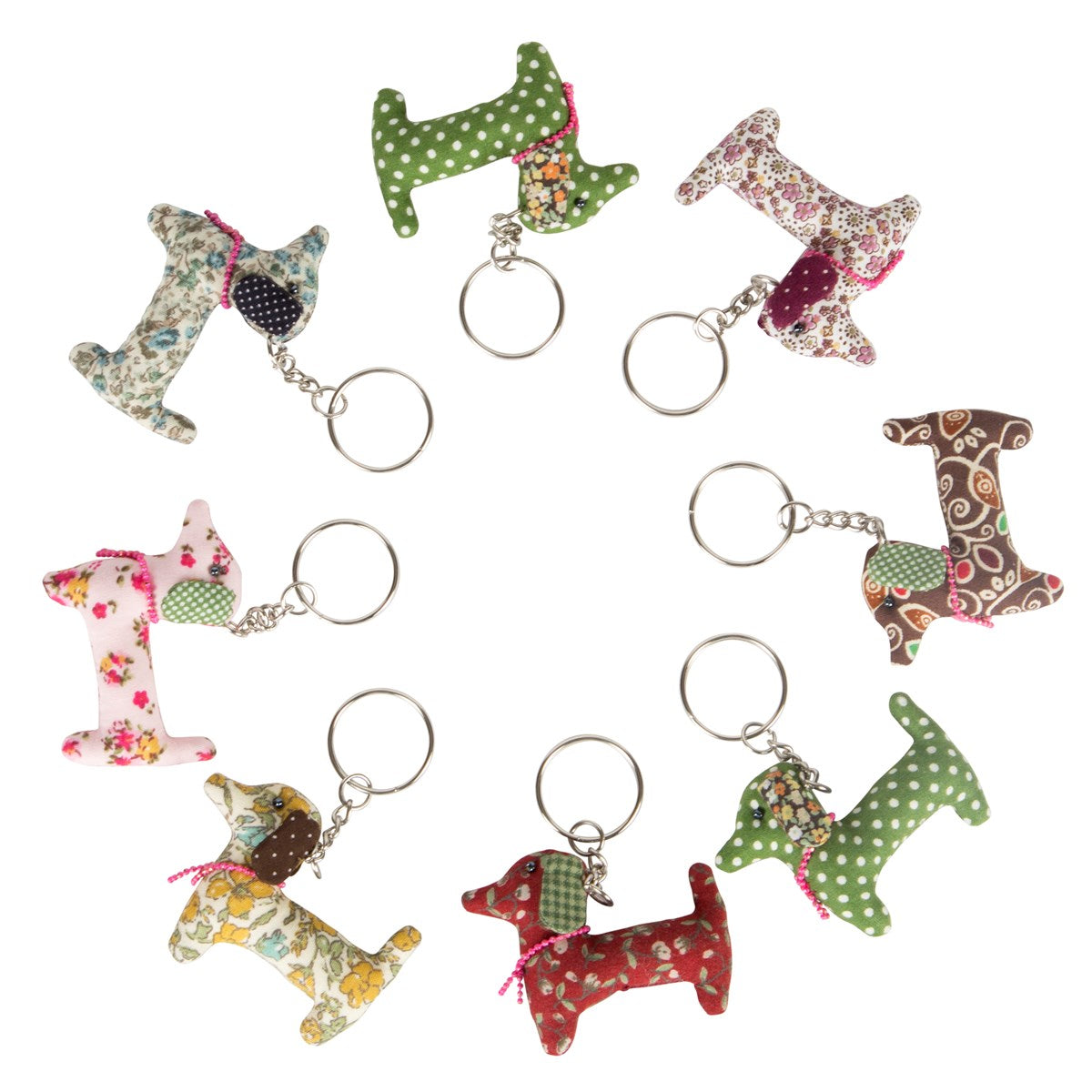 Sass and Belle Dali Dachshund Key Ring