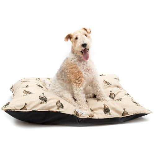Mutts and Hounds Grouse Linen Pillow Dog Bed