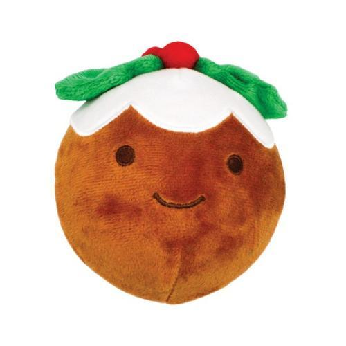 Happy Pet Christmas Pudding Squeaker Ball Dog Toy