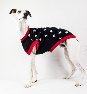 Dog Snug Water Repellent Black Star Fleece