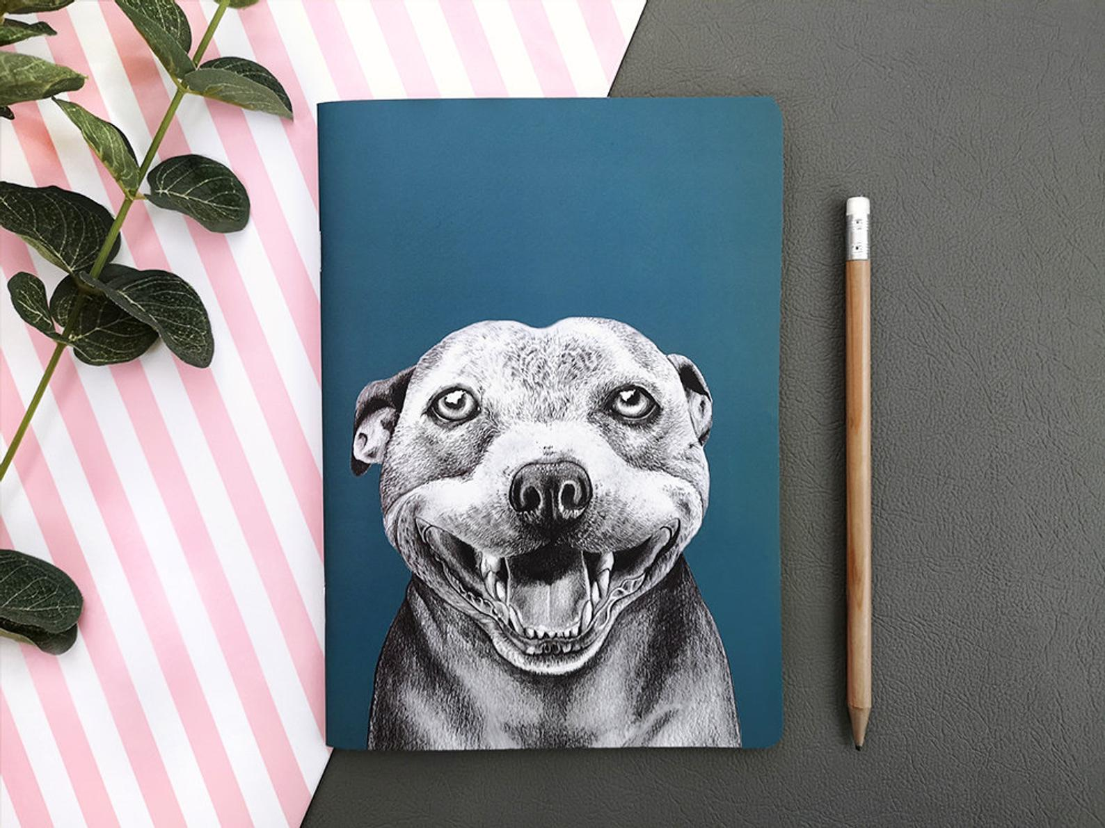 Beth Goodwin Illustrator Staffy Notebook