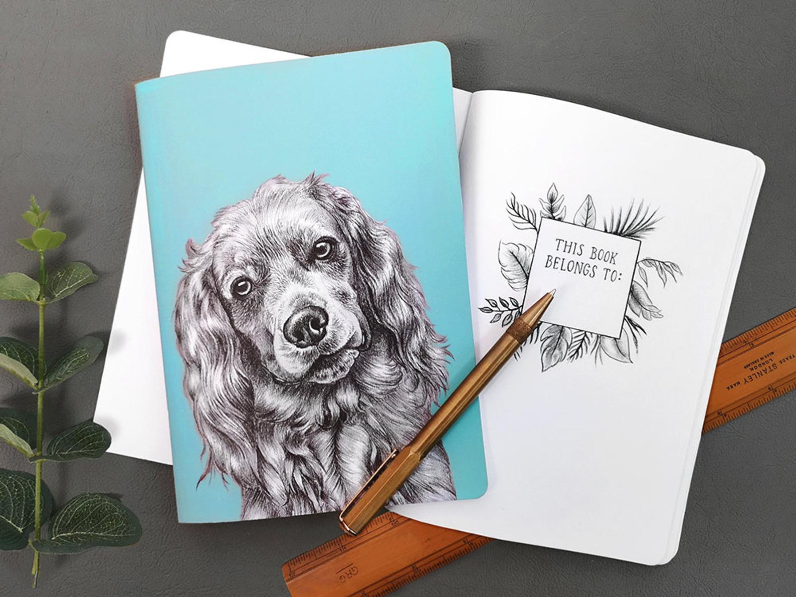 Beth Goodwin Illustrator Spaniel Notebook