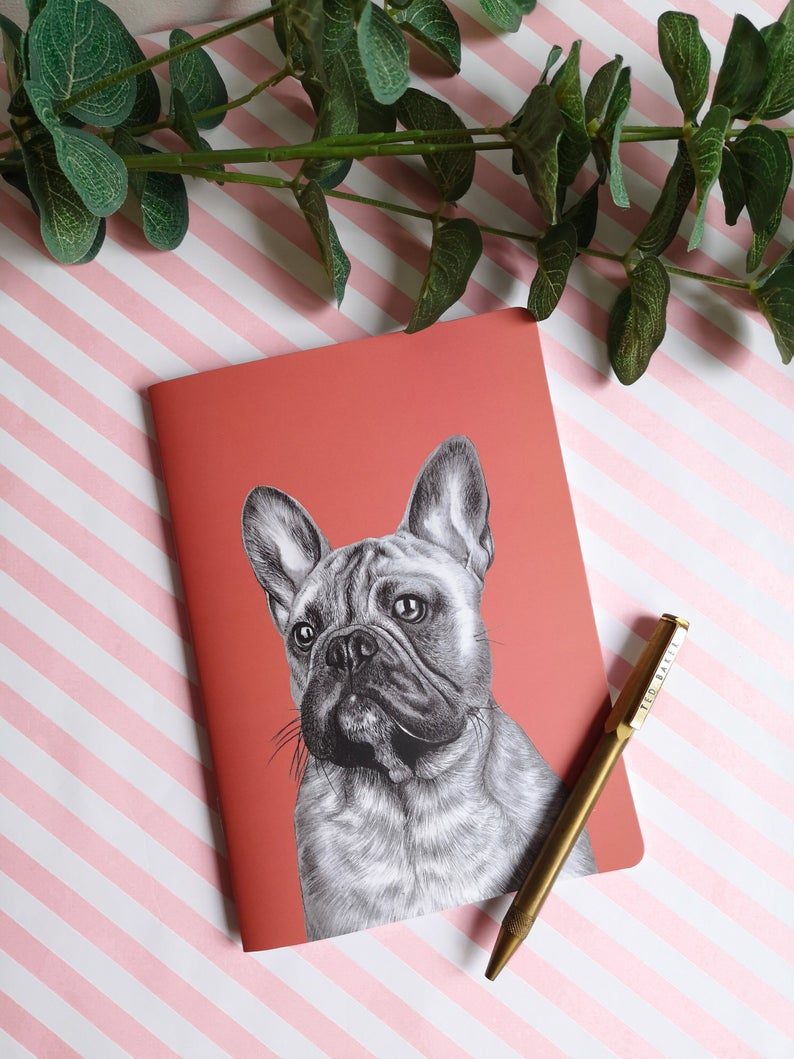 Beth Goodwin Illustrator French Bulldog Notebook