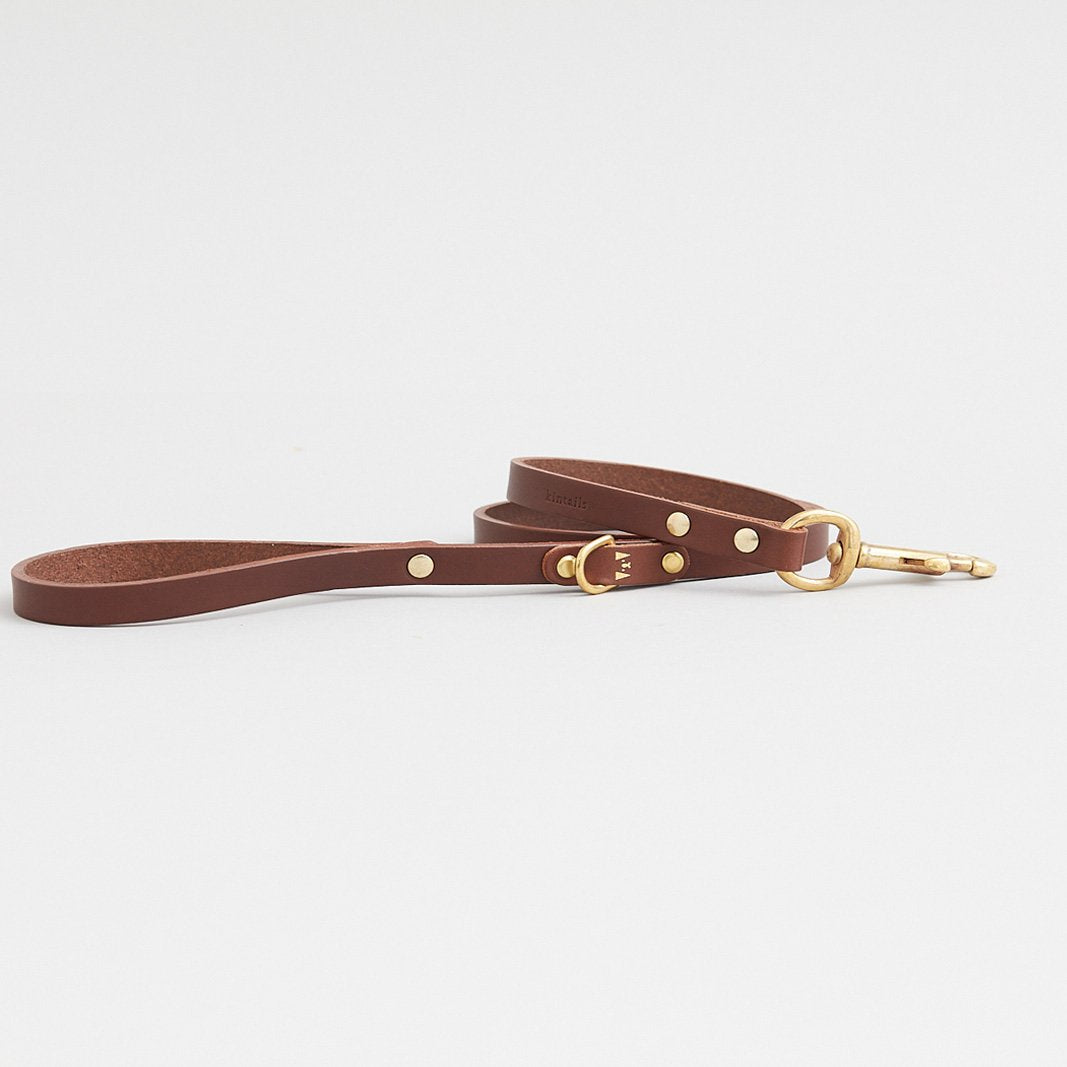 Kintails Skinny Brown Leather Lead
