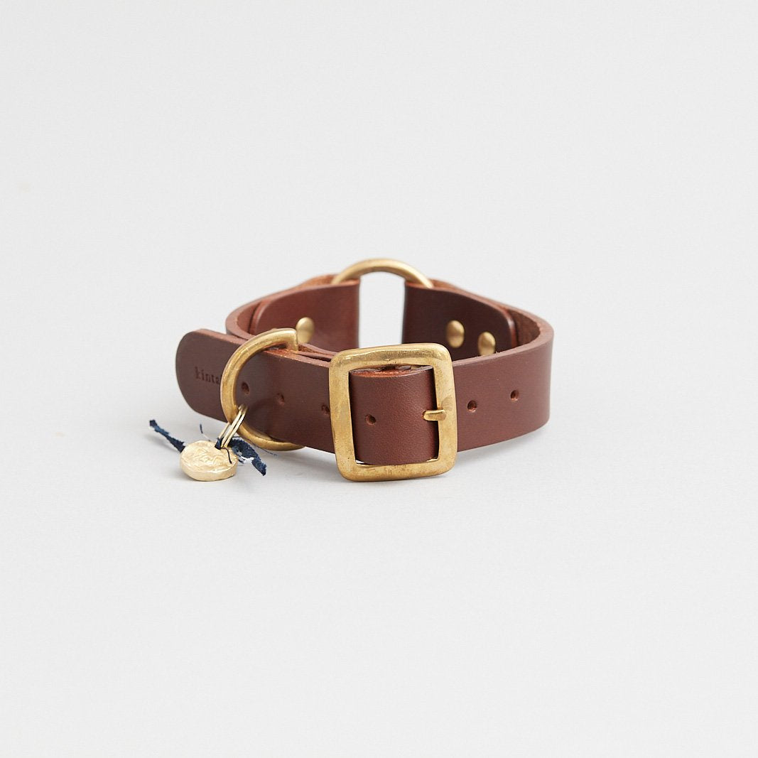 Kintails Brown Leather Dog Collar