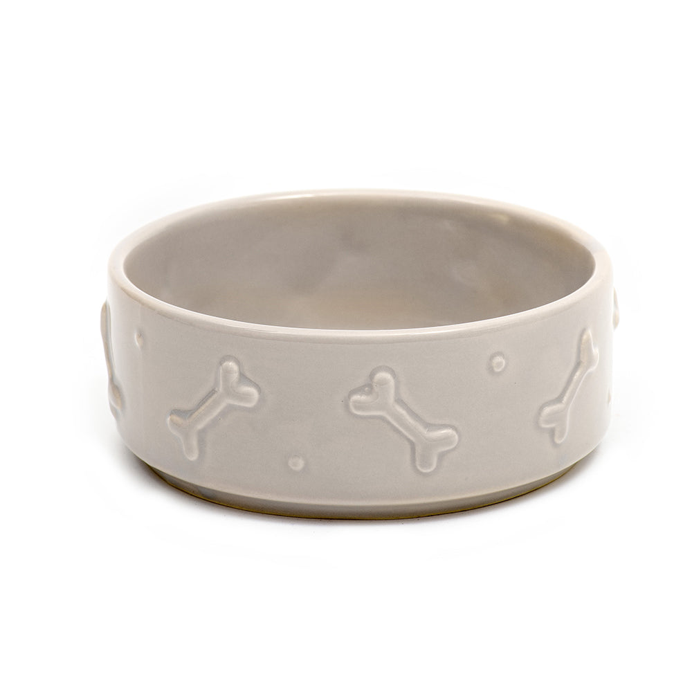 Mutts and Hounds Bowl in French Grey