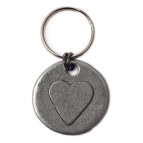 Mutts and Hounds Heart Motif Pewter Dog Tag