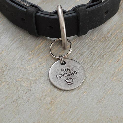 Mutts and Hounds His Lordship Pewter Dog Tag