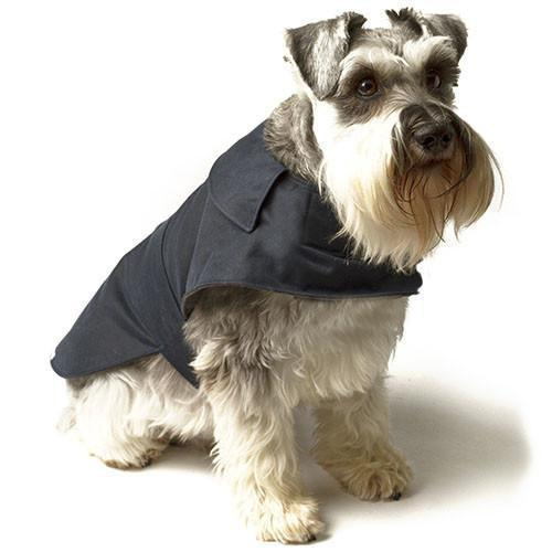 Mutts and Hounds Navy Waxed Waterproof Dog Coat