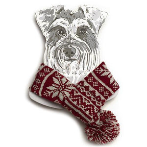 Mutts and Hounds Snowflake Scarf