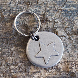 Mutts and Hounds Star Motif Pewter Dog Tag