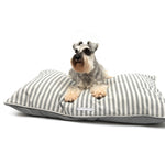 Mutts and Hounds Flint Stripe Pillow Bed