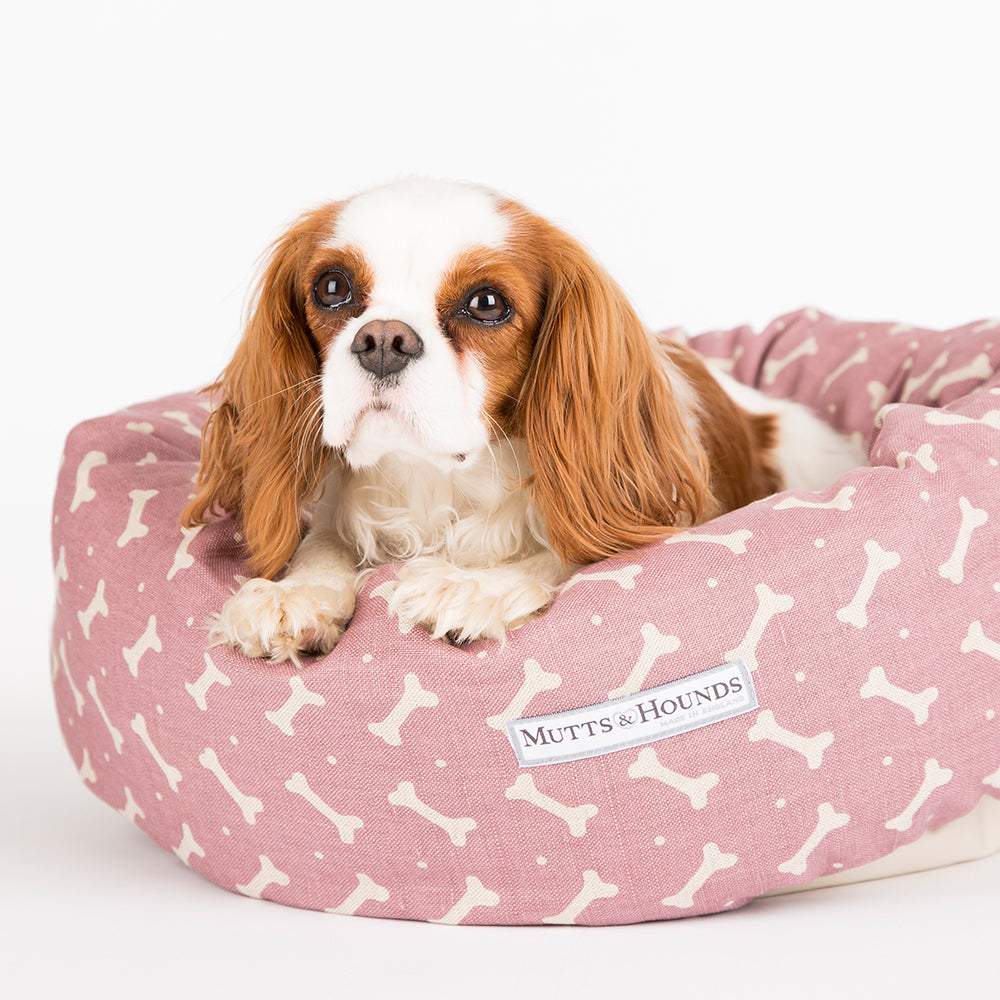 Mutts and Hounds Heather Bone Donut Bed