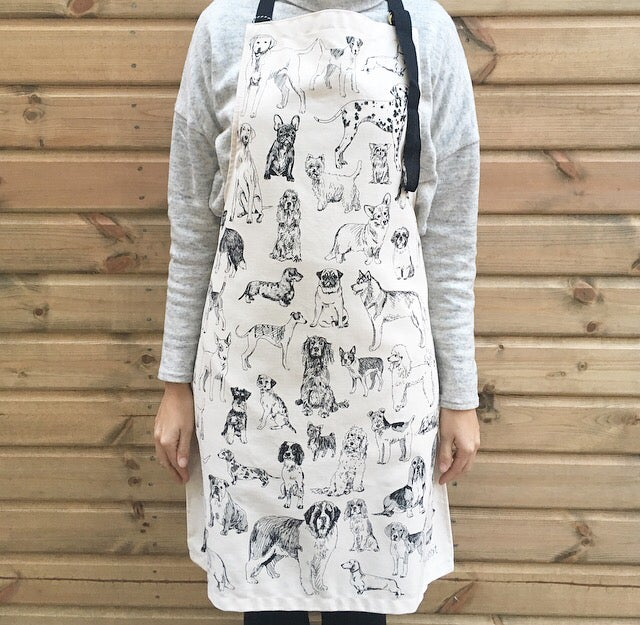 Tabby Rabbit All the Dogs Apron
