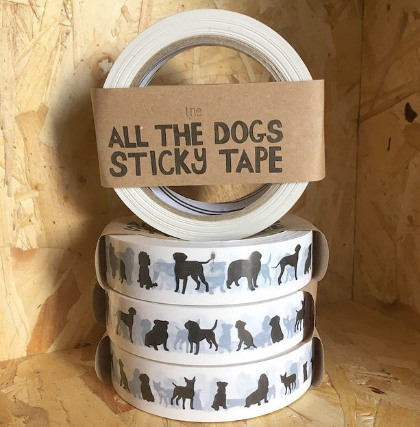 Tabby Rabbit All the Dogs Sticky Tape