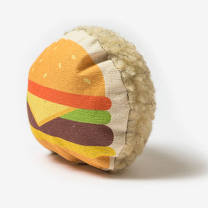 Purplebone Fast Food Burger Squeaky Toy