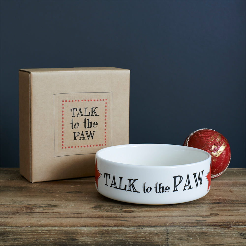 Sweet William Designs Talk to the Paw Bowl