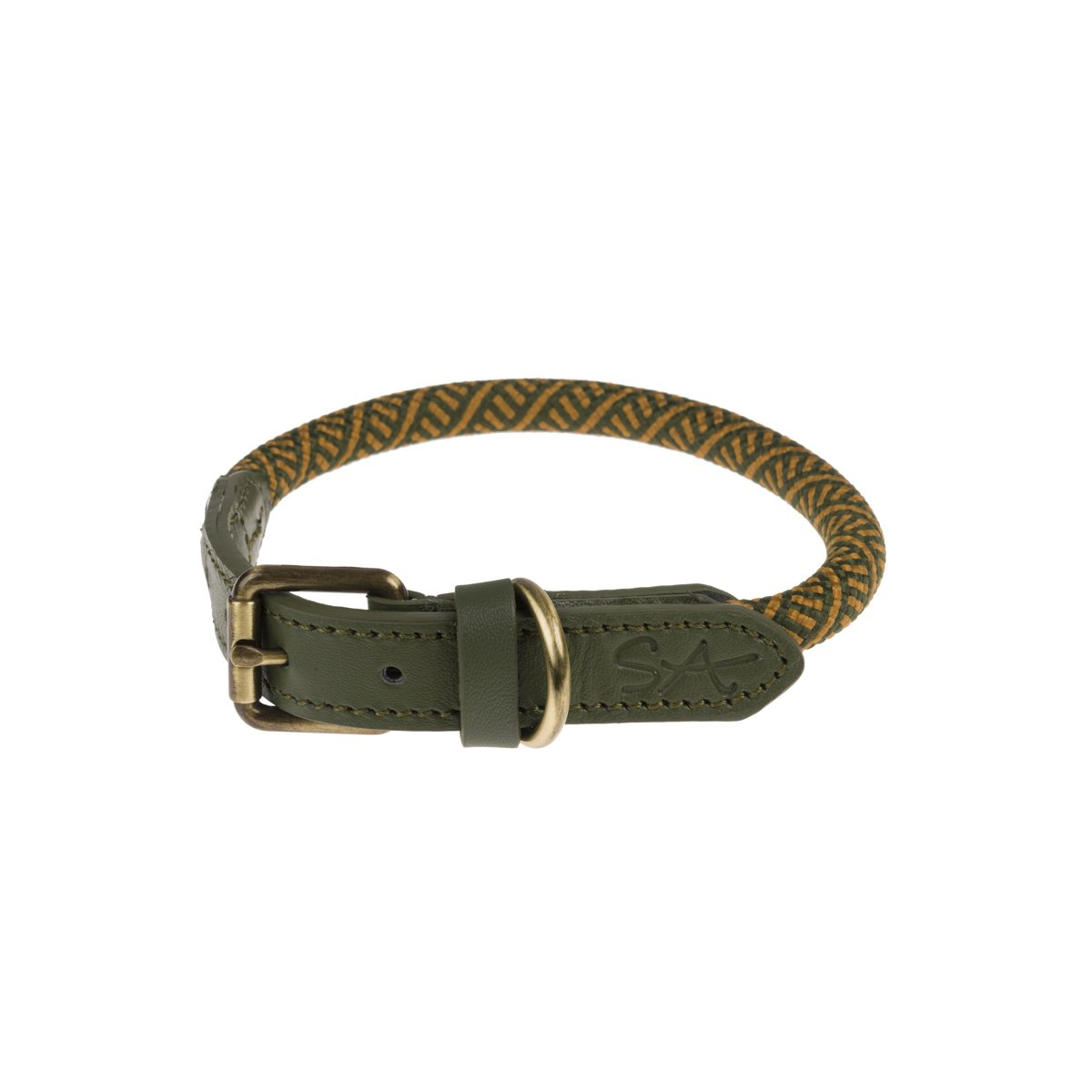 Sophie Allport Forest Green Rope Collar