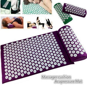 Yoga Acupressure Massage Mat with Pillow