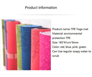Yoga Fitness Mat With Yoga Bag