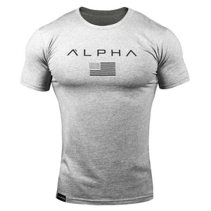 Men's Cotton Printed ALPHA T Shirt