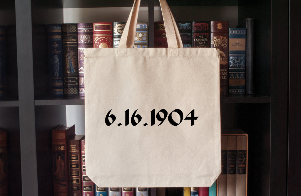 Canvas Tote Bag: 6.16.1904 (Bloomsday)(James Joyce)