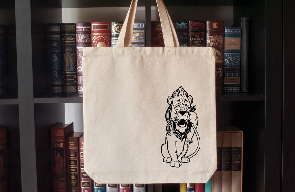 Canvas Tote Bag: The Wonderful Wizard of Oz – Cowardly Lion (L. Frank Baum)