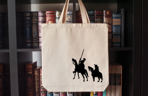 Canvas Tote Bag: Don Quixote and Sancho Panza