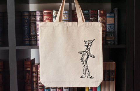 Canvas Tote Bag: The Wonderful Wizard of Oz – Tin Man (L. Frank Baum)