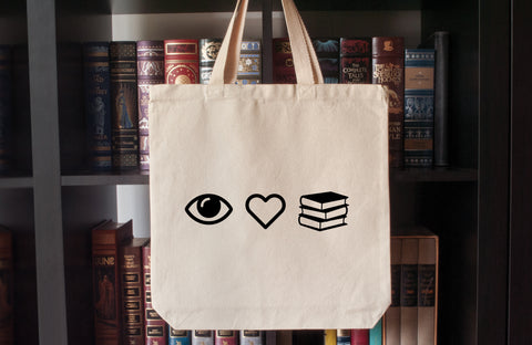 Canvas Tote Bag: I Love Books (Eye Heart Books)