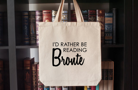 Canvas Tote Bag: I'd Rather Be Reading Bronte