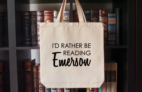 Canvas Tote Bag: I'd Rather Be Reading Emerson