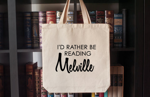 Canvas Tote Bag: I'd Rather Be Reading Melville