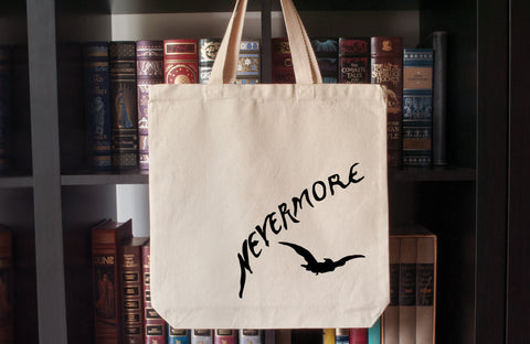 Canvas Tote Bag: Nevermore (The Raven by Edgar Allan Poe)