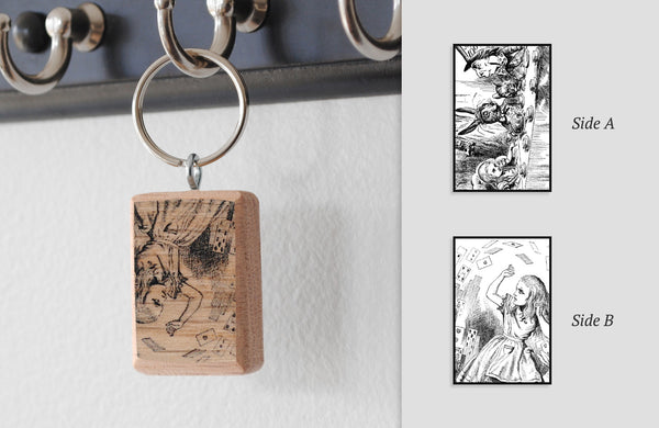 Literary Keychain: Alice's Adventures in Wonderland (Lewis Carroll)