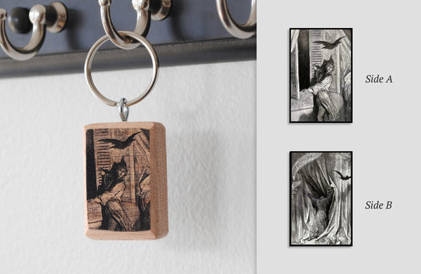 Literary Keychain: The Raven (Edgar Allan Poe)