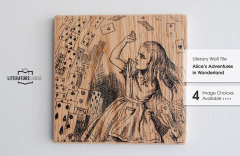Literary Wall Tile: Alice's Adventures in Wonderland by Lewis Carroll (Multiple Designs Available)