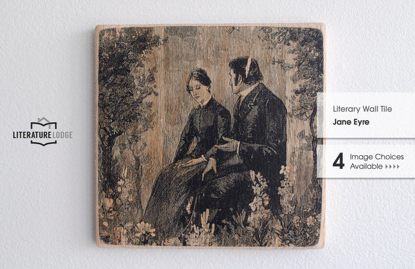 Literary Wall Tile: Jane Eyre by Charlotte Bronte (Multiple Designs Available)