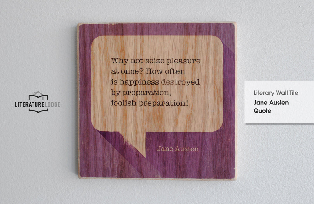 Literary Wall Tile: Jane Austen Quote