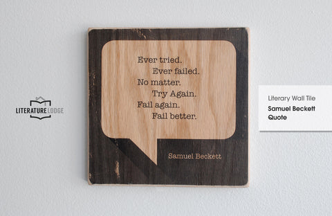 Literary Wall Tile: Samuel Beckett Quote