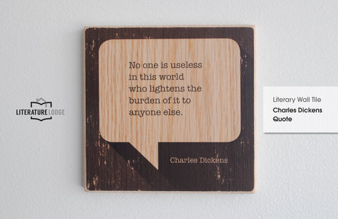 Literary Wall Tile: Charles Dickens Quote
