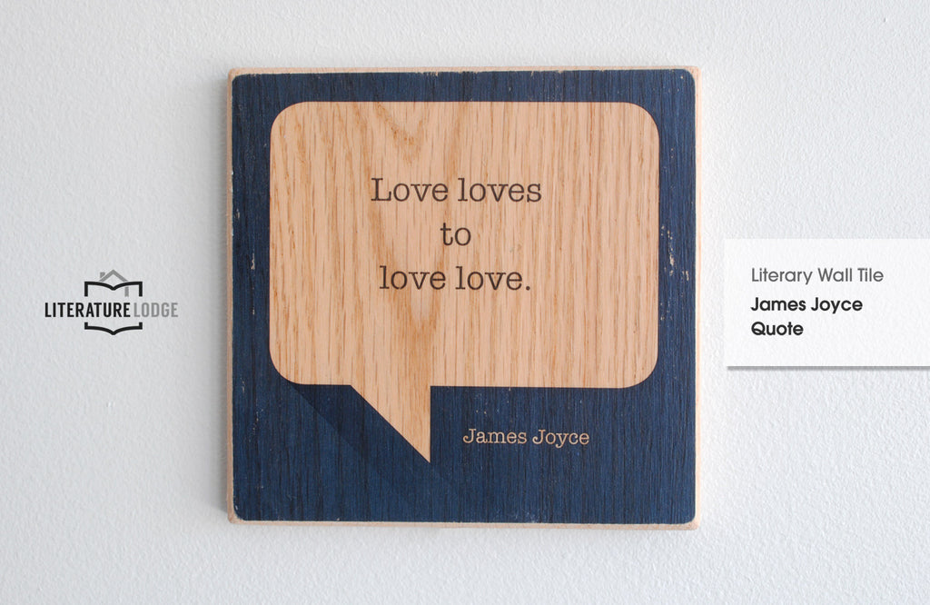 Literary Wall Tile: James Joyce Quote