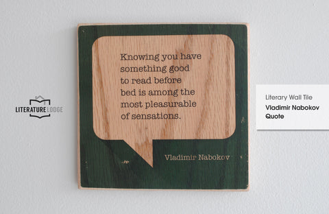 Literary Wall Tile: Vladimir Nabokov Quote