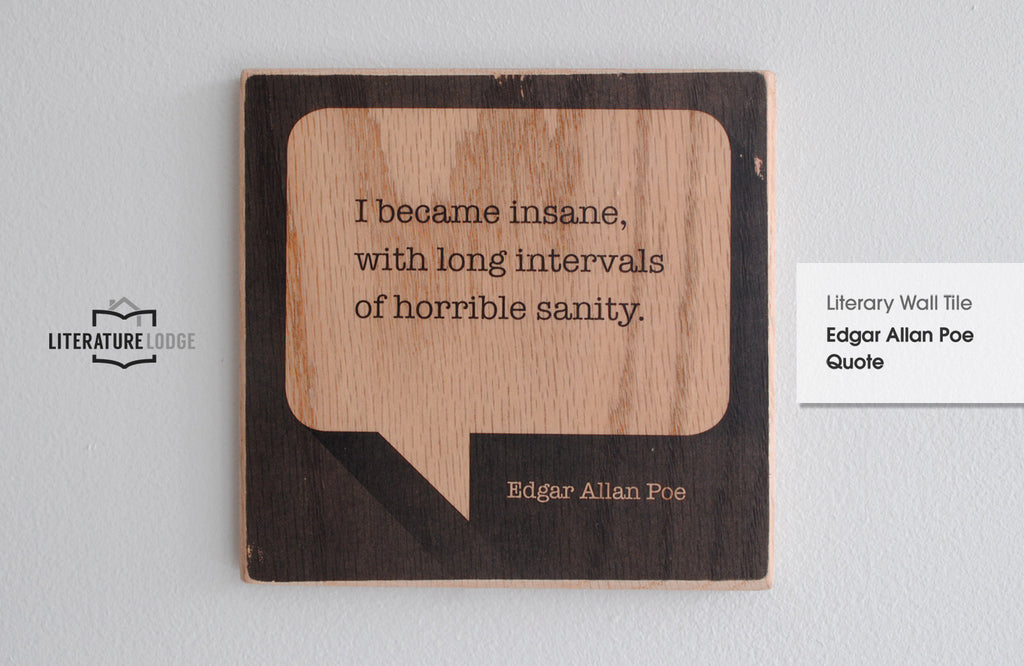 Literary Wall Tile: Edgar Allan Poe Quote