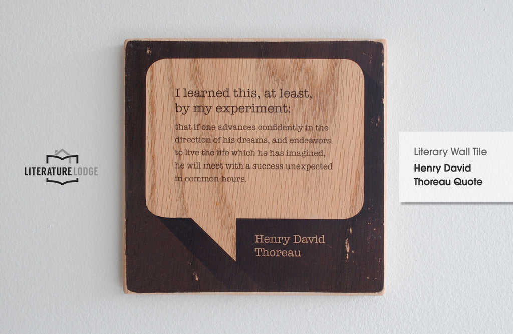 Literary Wall Tile: Henry David Thoreau Quote