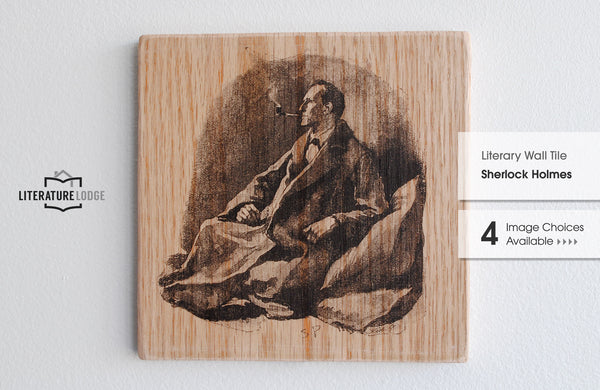 Literary Wall Tile: Sherlock Holmes by Arthur Conan Doyle (Multiple Designs Available)