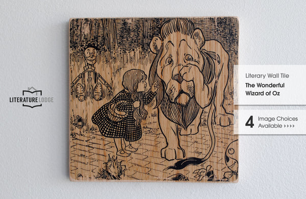 Literary Wall Tile: The Wonderful Wizard of Oz by L. Frank Baum (Multiple Designs Available)