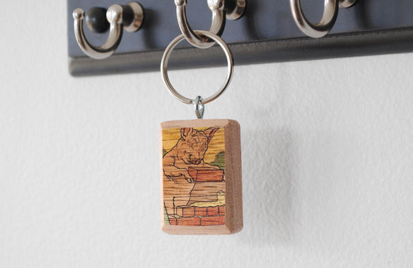 Literary Keychain: The Three Pigs