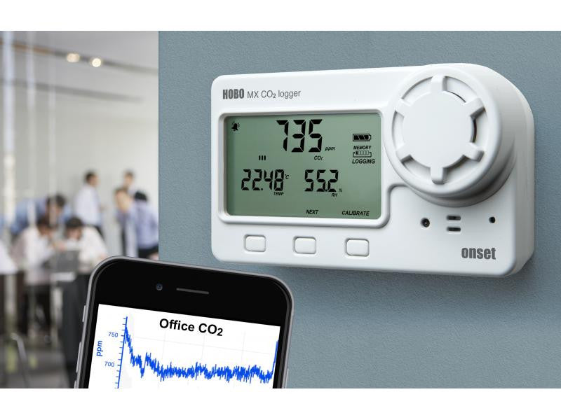 HOBO Bluetooth Low Energy Carbon Dioxide - Temp - RH Data Logger